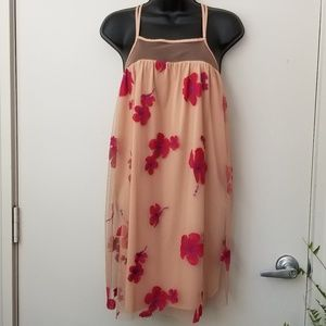 NWT Tobi Embroidered Strappy Shift Dress